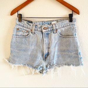 Levi's Vintage 512 Cutoff Jean Shorts Light Wash